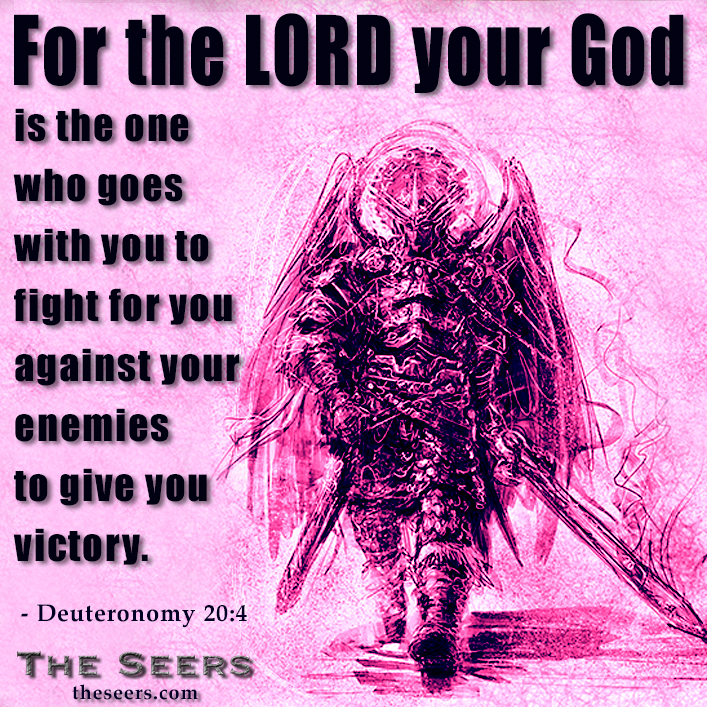 For the LORD your God is the one who goes with you to fight for you against your enemies to give you victory. - Deuteronomy 20:4